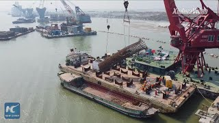 Building of Bangladesh's largest bridge underway, all 40 underwater piers completed