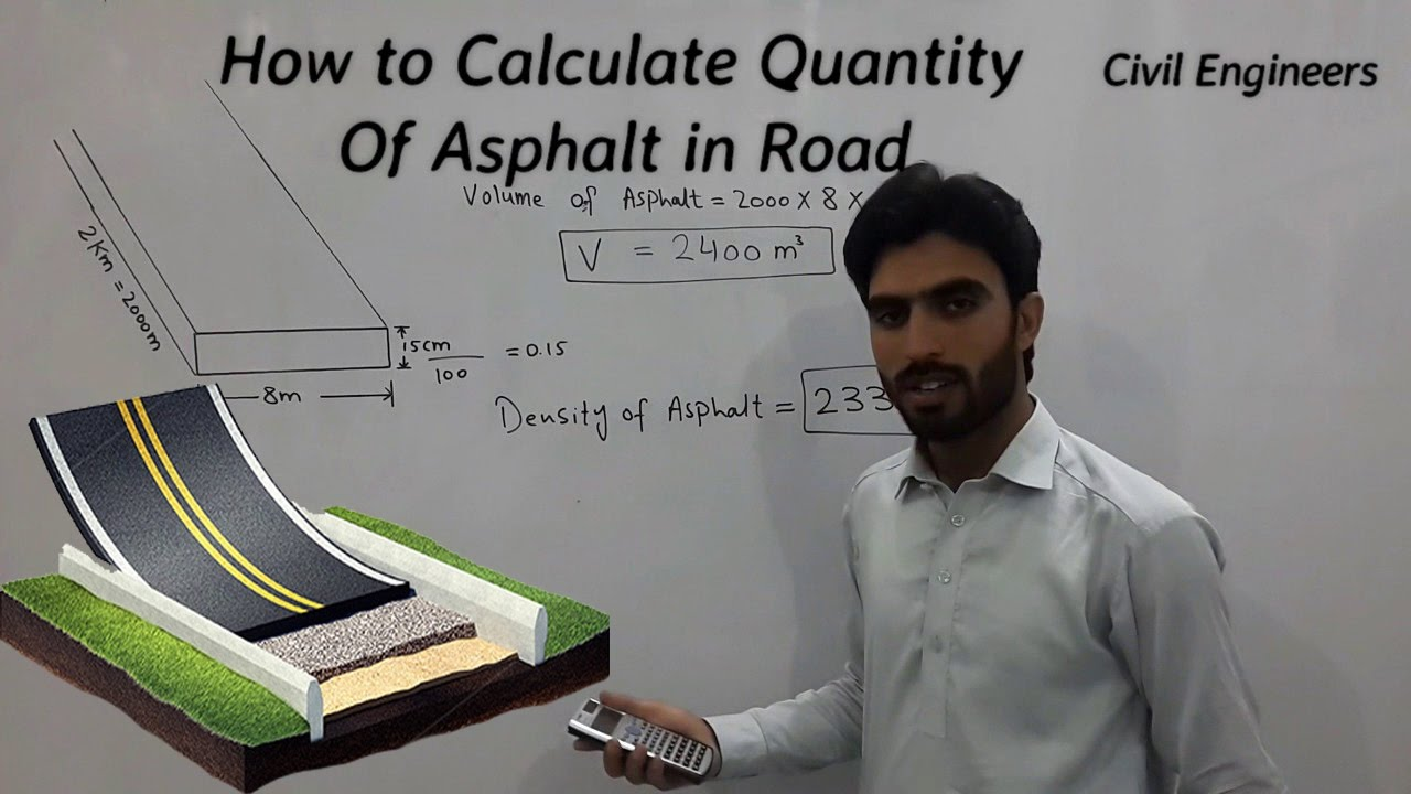 How to Calculate Quantity for Asphalt in Road