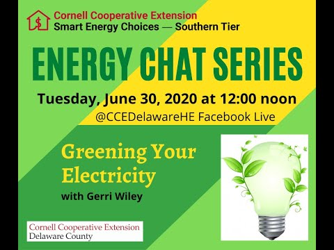 Energy Chat-Greening Your Electricity-6-30-20