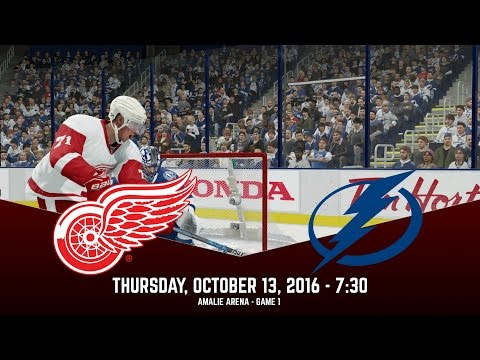 JUST LIKE THAT! (Detroit Red Wings @ Tampa Bay Lightning) NHL 17 Franchise Mode