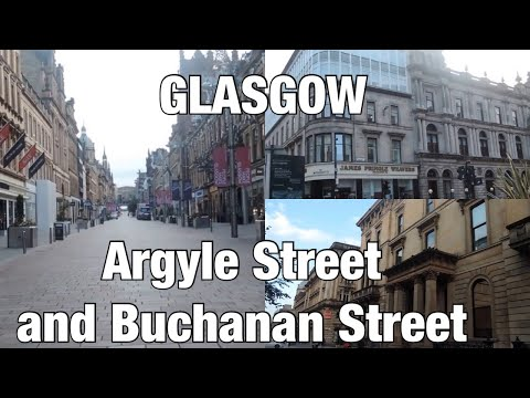 Wandering around Glasgow City Centre - Argyle Street and Buchanan Street