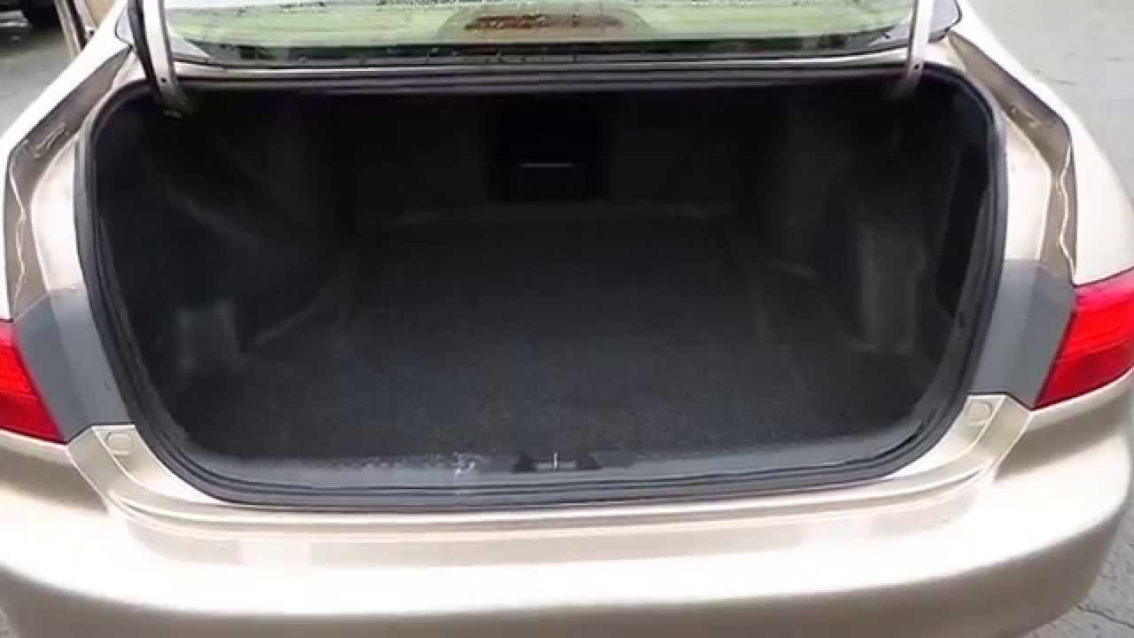 2005 Honda Accord Desert Mist Metallic Stock 31519a Trunk