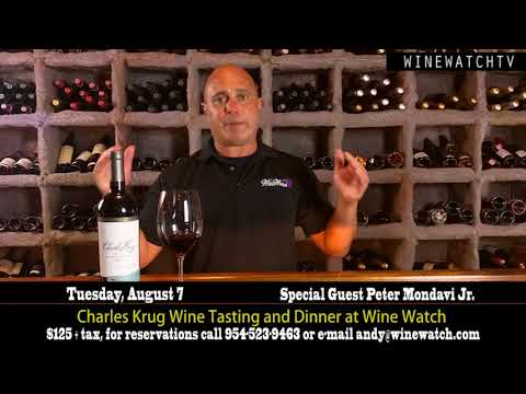 Charles Krug Tasting at Wine Watch Tuesday August 7th - click image for video