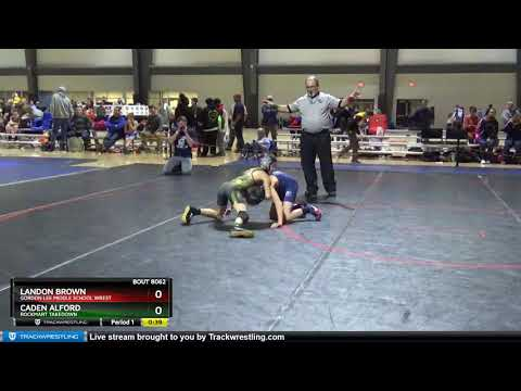 True Beginner Novice 69-69 Landon Brown Gordon Lee Middle School Wrest Vs Caden Alford Rockmart Ta