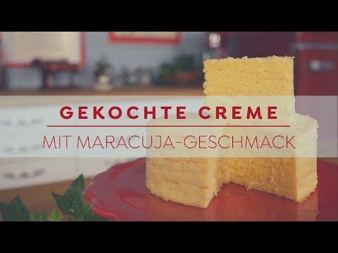 Gekochte Creme mit Maracuja Geschmack | Betty´s Sugar Dreams