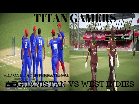 AFGHANISTAN VS WEST INDIES 3RD ONE DAY INTERNATIONAL 2017 IN DON BRADMAN CRICKET 17 PS4
