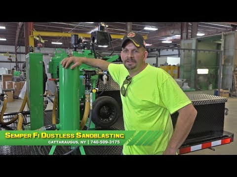 MARINE VETERAN upgrades his business with Dustless Blasting!