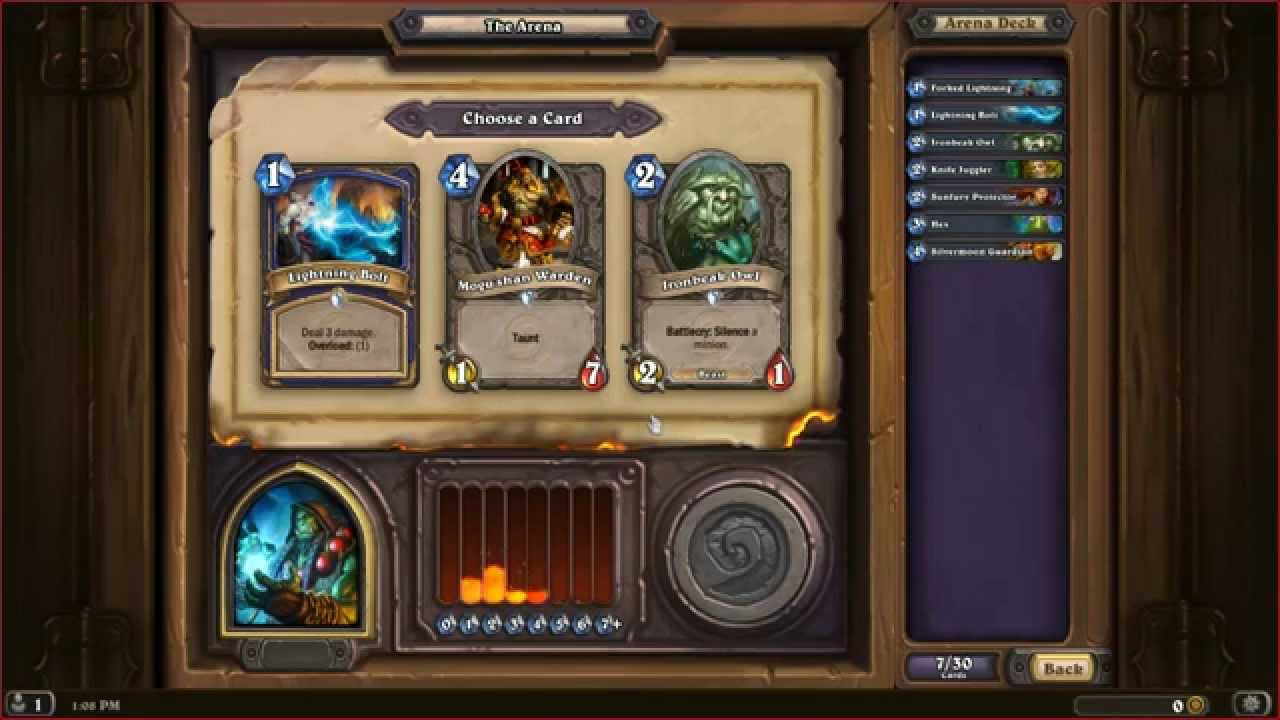 how to build a deck hearthstone arena