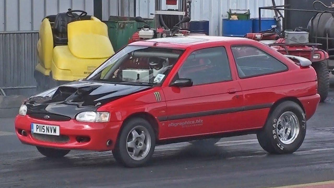 V8 Ford Escort Mk6 runs 12.39 at 102 mph