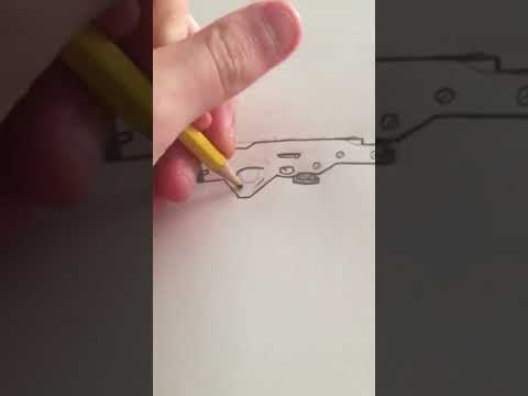 How to draw a Bolt Action Sniper Rifle Fortnite (StepbyStep)