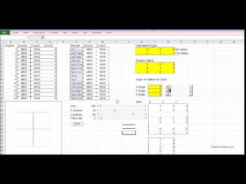 3D wire Frame model using excel