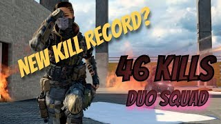 46 KILLS! NEW DUO SQUAD KILL RECORD (BLACKOUT GAMEPLAY)