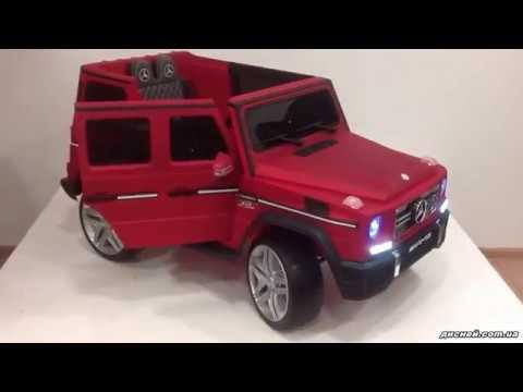 Детский электромобиль Джип M 3567 EBLR-3 Mercedes, красный - дисней.com.ua