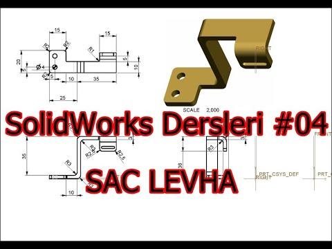 SolidWorks Dersleri 04 Saç Levhalar