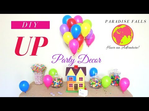 UP THEME BIRTHDAY PARTY DECORATIONS | DIY KIDS PARTY DECORATION IDEAS