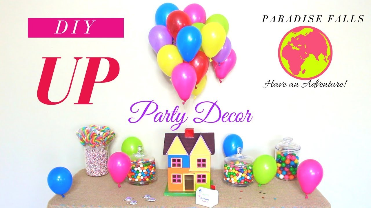 Diy Kids Party Decoration Ideas Up Theme Decorations