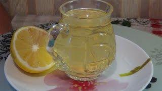 Прохладительный напиток с зеленым чаем,лимоном,мятой