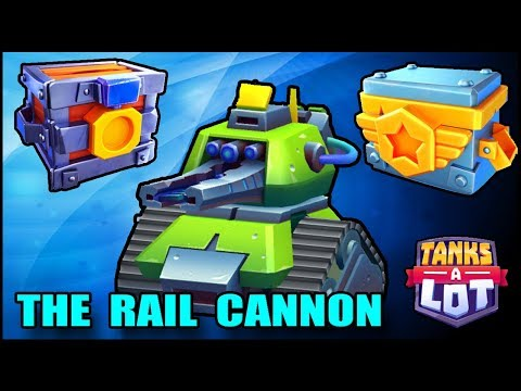 THE RAIL CANNON  - TANKS A LOT - Headhunter And Champions  Chest GAMEPLAY