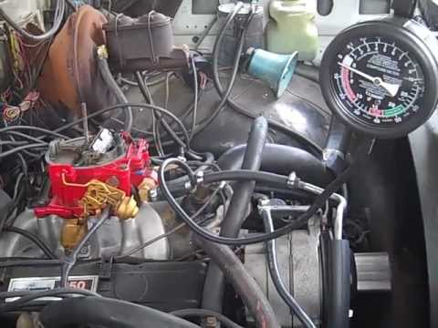 '77 Chevy K20 - 350 Engine: Fuel Pump Pressure Test - YouTube
