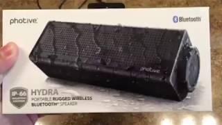 Review- Photive Hydra waterproof Bluetooth speaker