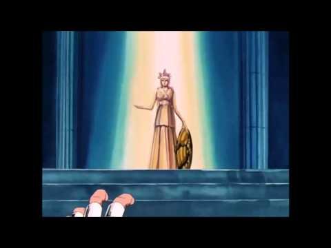 Seiya saves Saori Athena