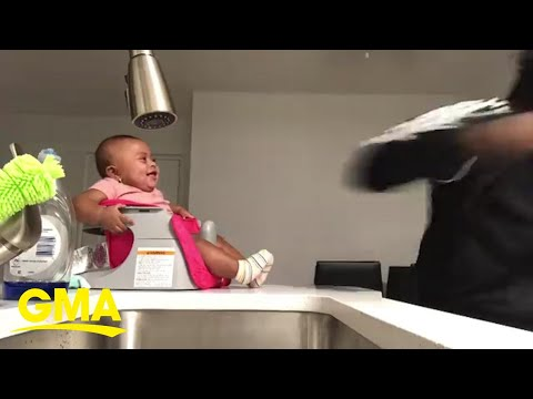 Bobby Gunther Walsh - Baby loves dad's boxing moves.
