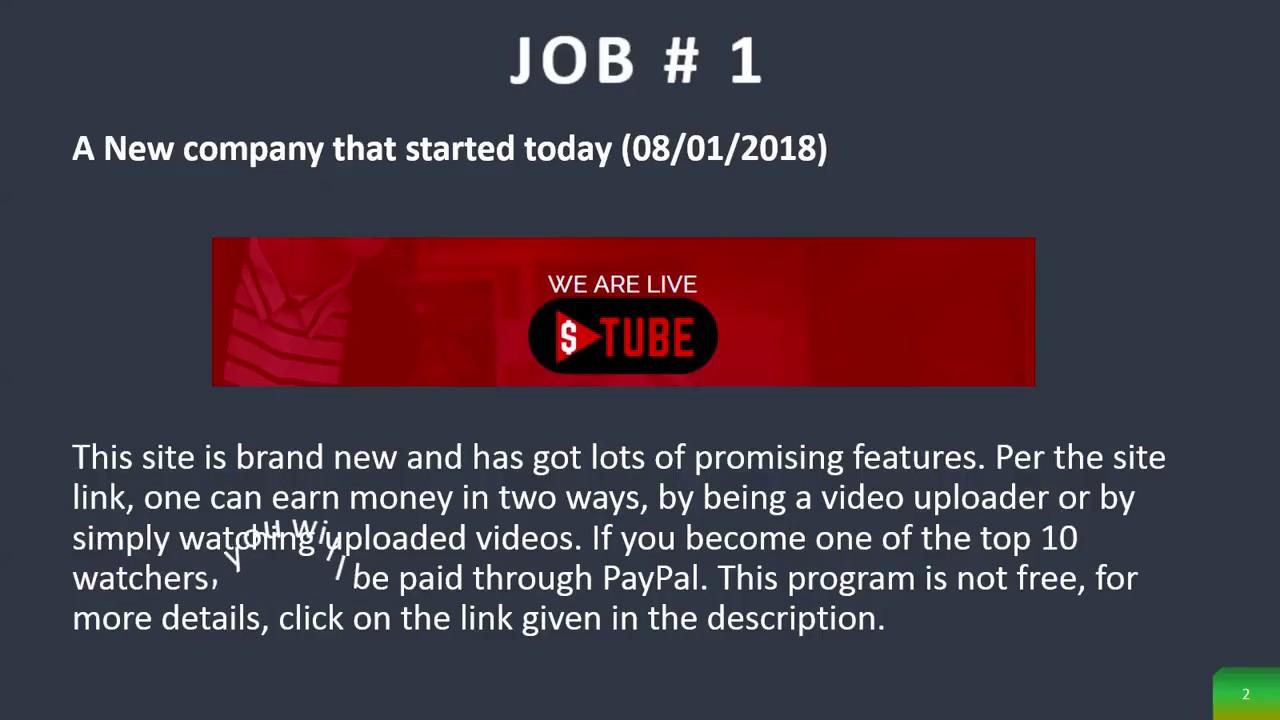 Get paid to watch videos – dollartube, swagbucks
