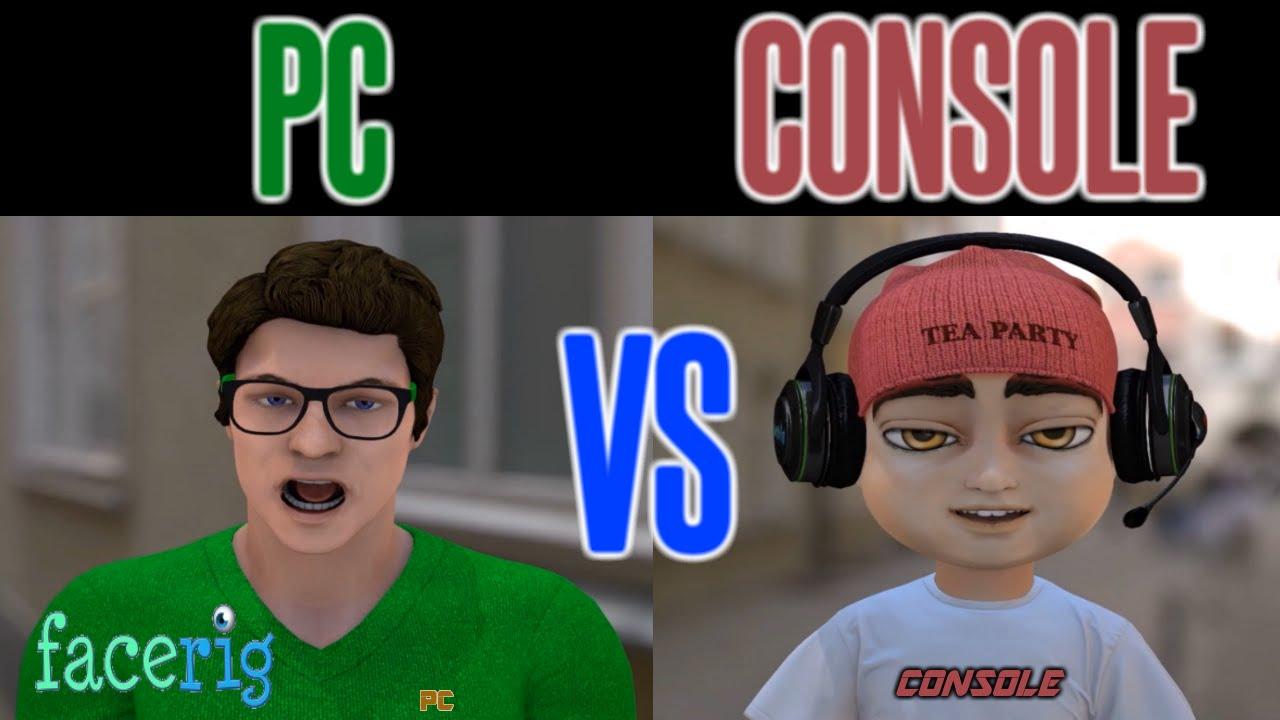 Facerig pc vs console debate ps xbox