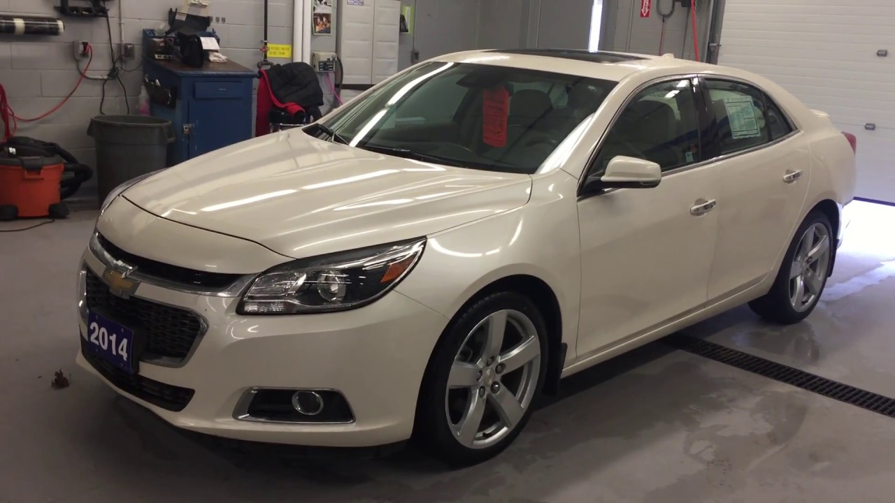 Wonderful 2014 Chevrolet Malibu LTZ White Roy Nichols Motors Courtice ON