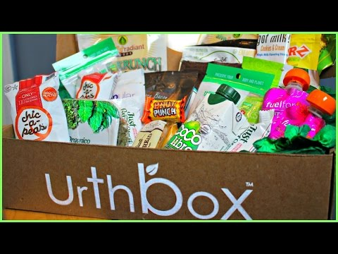 URTHBOX SUBSCRIPTION UNBOXING!   GLUTEN FREE, VEGAN, AND HEALTHY SNACK OPTIONS!