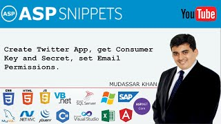 Create Twitter App, get Consumer Key and Secret, set Email Permissions