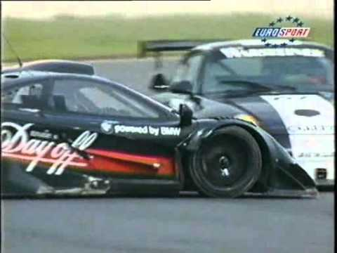 mclaren f1 gt crash at oschersleben (fia gt 1998) - youtube