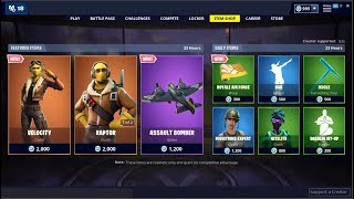 NEW*Velocity Skin & Assault Bomber Glider! Fortnite Item Shop May 12, 2019