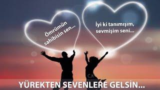 YÜREKTEN SEVENLERE GELSİN / Resimli Aşk Sözleri /  Sevgiliye Güzel Sözler