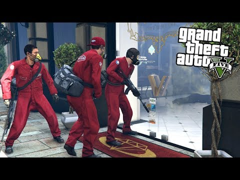 ROBBING THE JEWELRY STORE HEIST! - FOR $550,000,000 (GTA 5 REAL LIFE MODS)