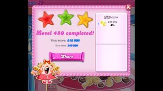 Candy Crush Saga Level 480 ★★★ NO BOOSTER