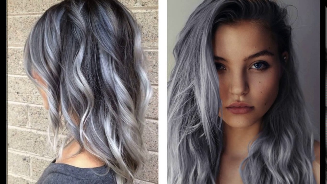 Funky Grey Hair Short Haircuts Youtube