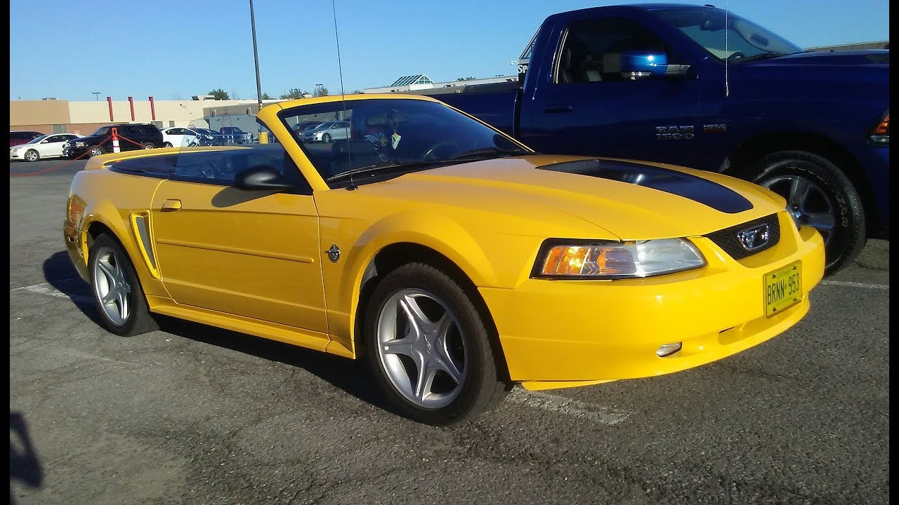 1999 Ford Mustang Gt 35th Anniversary Edition Convertible In Chrome Yellow The Modern Day