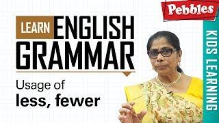 Learn English Grammar | Usage of less, fewer | Determiner Grammar | Basic English Grammar