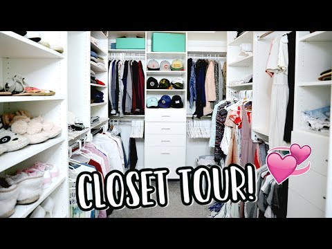 CLOSET TOUR + PACKING FOR NYC!