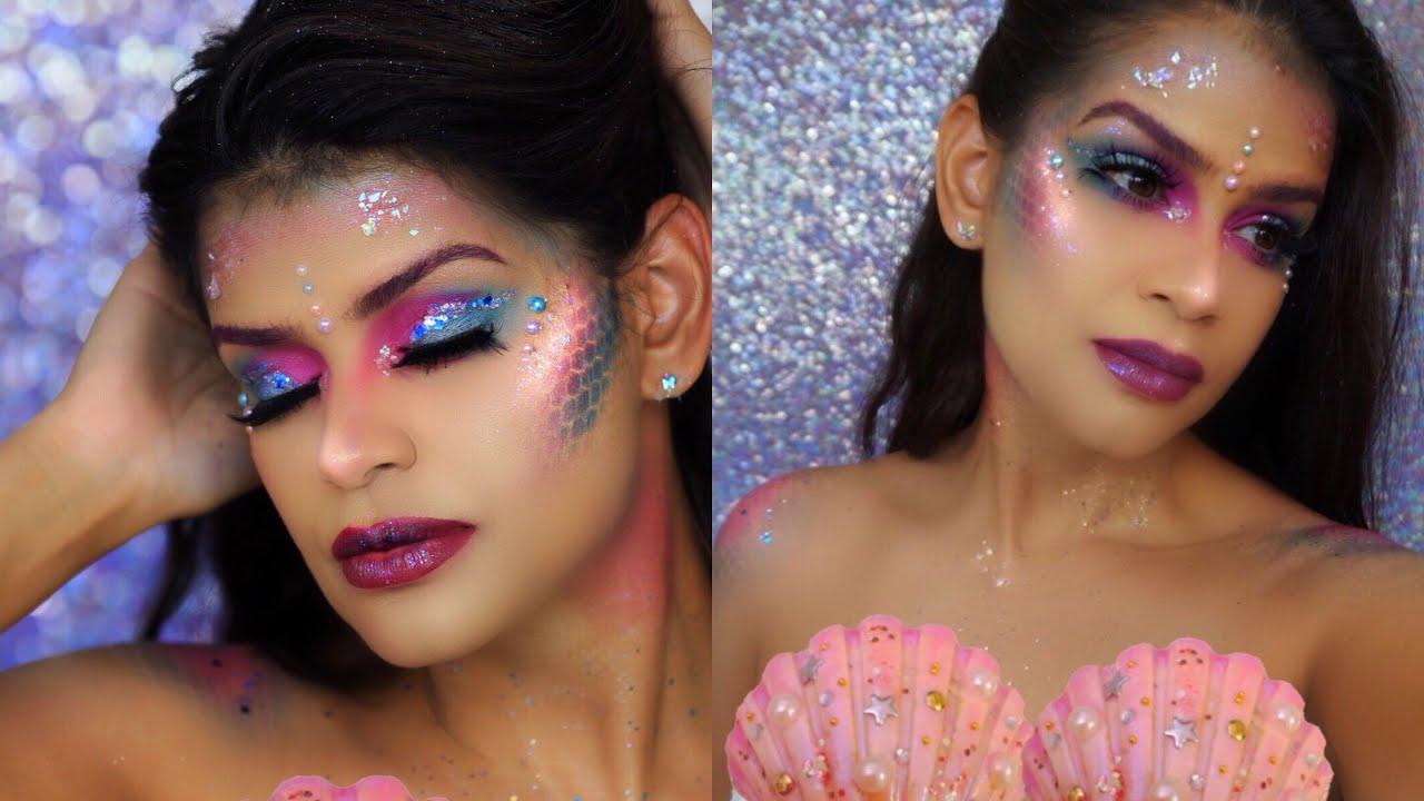 Fantasia De Sirena Maquillaje De Halloween Glambypenela Youtube