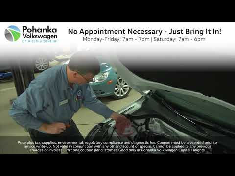 Pohanka VW Service Special - $24.95 Front Wipers! Capitol Heights MD