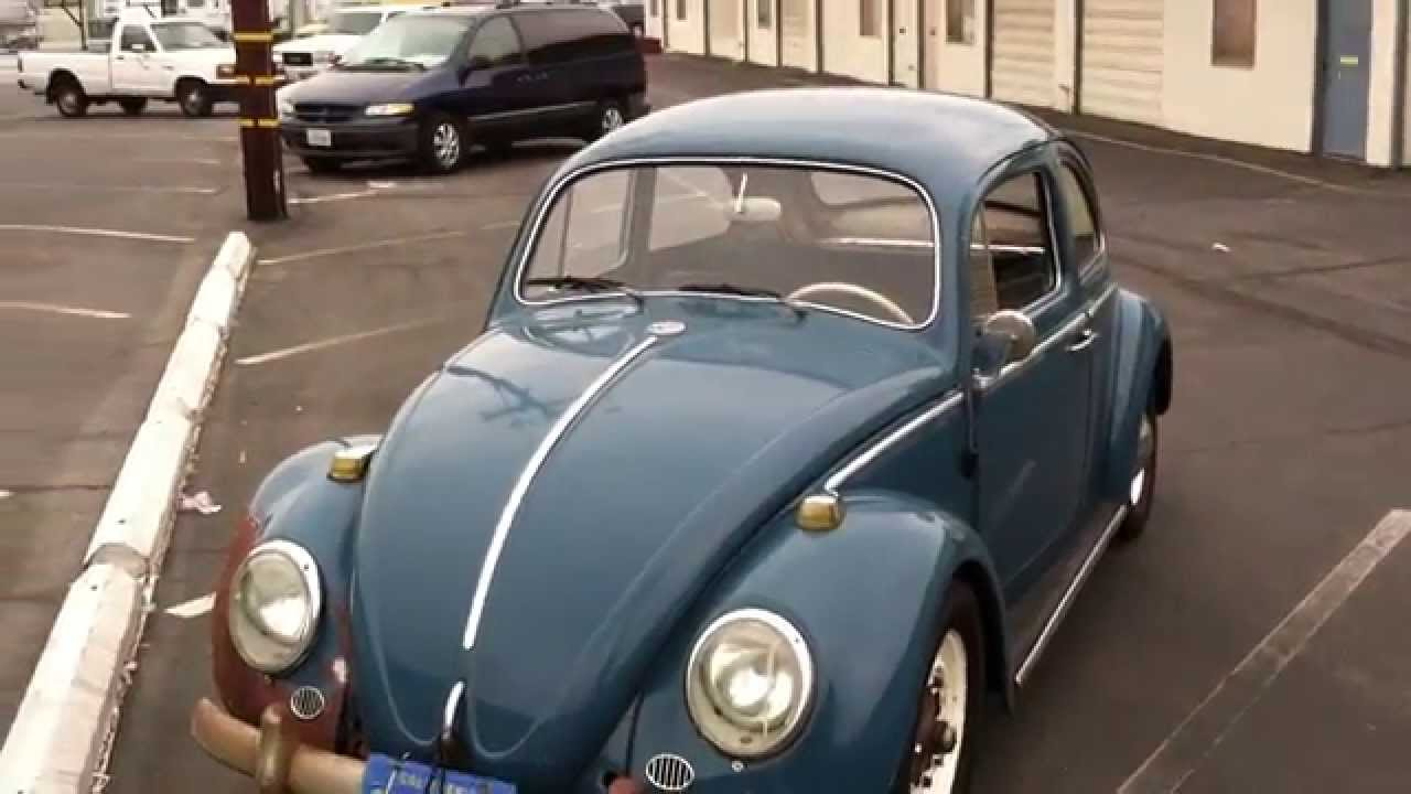 1964 VW Beetle for sale 64 Volkswagen Bug Sea Blue Walk Around - YouTube