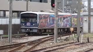 伊豆箱根鉄道駿豆線3000系第6編成「HAPPYPARTYTRAIN」 三島駅発車
