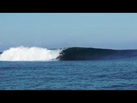 Surfing at Coconuts Resort, Samoa