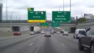 Driving I-75 North Through Atlanta