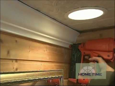 Bathroom Crown Moulding Installation YouTube Magnificent Bathroom Crown Molding