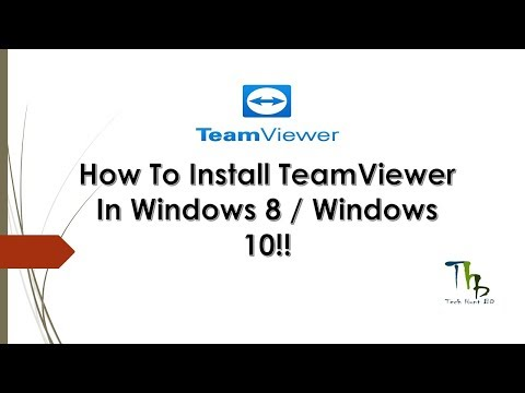 How To Install Team Viewer In Windows 8 / Windows 10