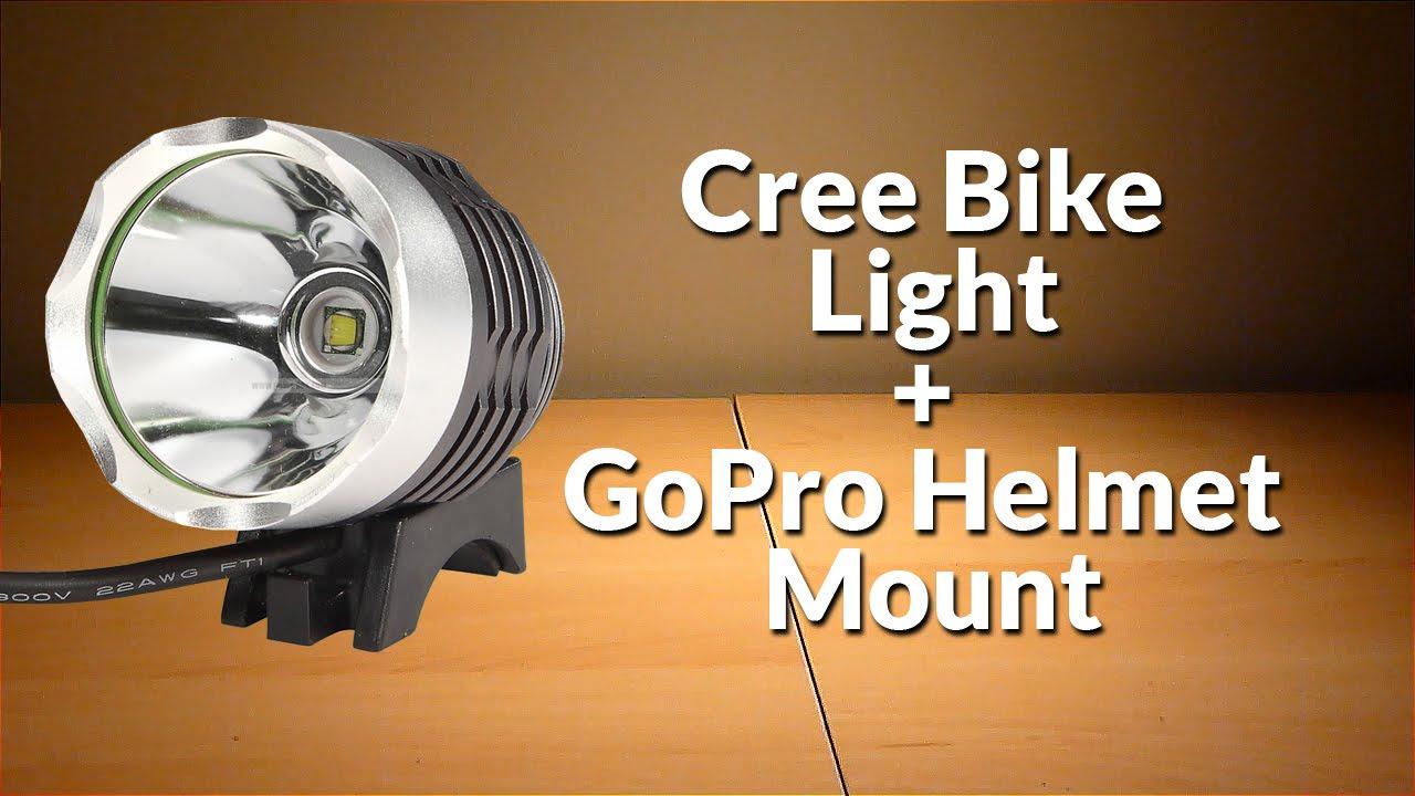 Super Bright Cree Type Vélo Lumière Adaptateur Gopro