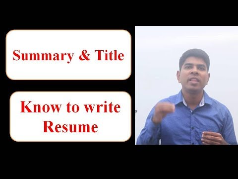 How to Write a Resume... (Sample TEMPLATES Included) from YouTube · High Definition · Duration:  37 minutes 53 seconds  · 10.000+ views · uploaded on 01.05.2017 · uploaded by Don Georgevich